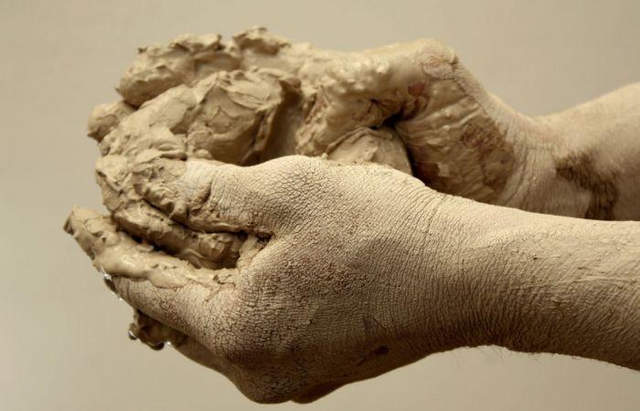 замес глины для хранения капусты