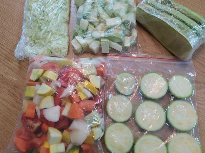 хранение замороженых овощей в пакетах