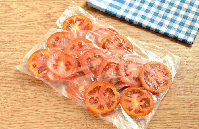 заморозка помидоров кружками