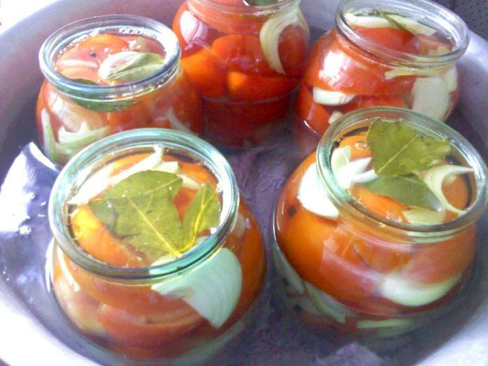 помидоры с луком на зиму рецепт