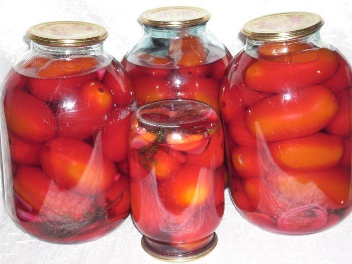 закрутки на зиму из помидоров