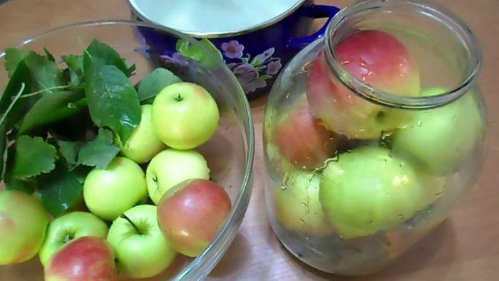 приготовление яблок для мочения