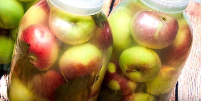 как хранить моченые яблоки в банках