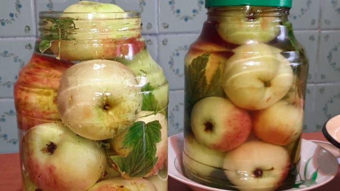 как мочить яблоки в банках