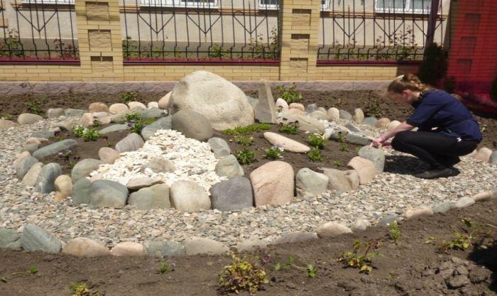 ядро горки из камней