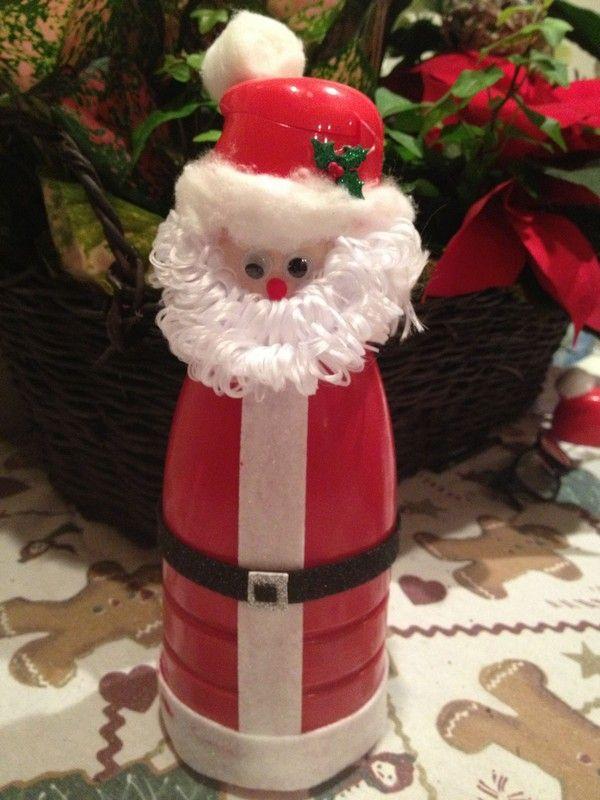Дед Мороз из пластиковой бутылки